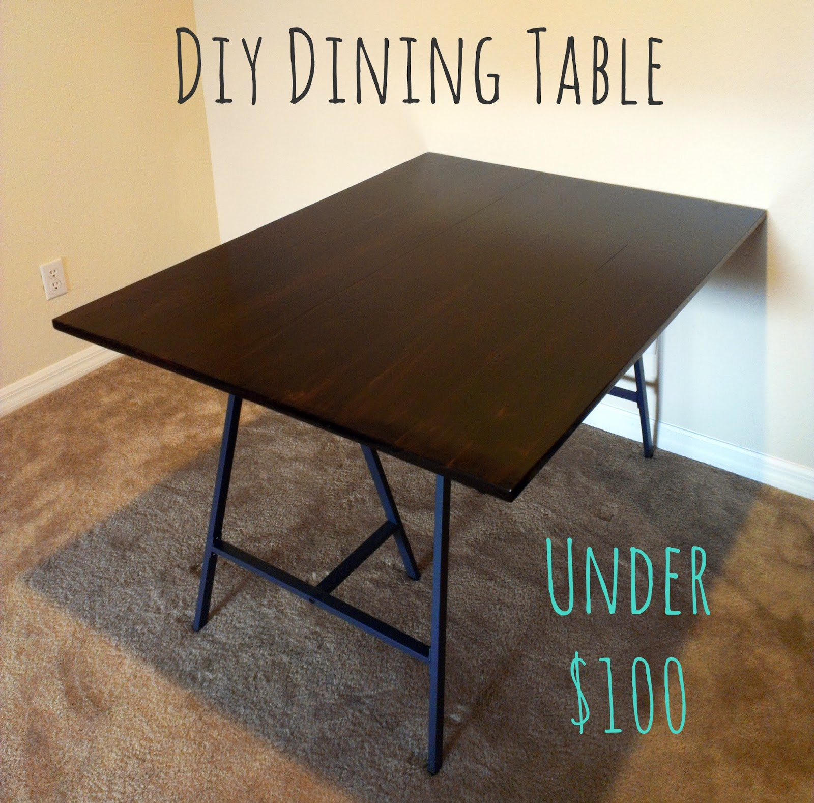 All painted pretty diy dining room table for Html table title