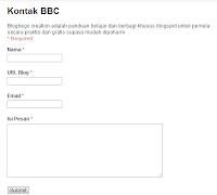 Pesan Contact us langsung masuk Email Blogger