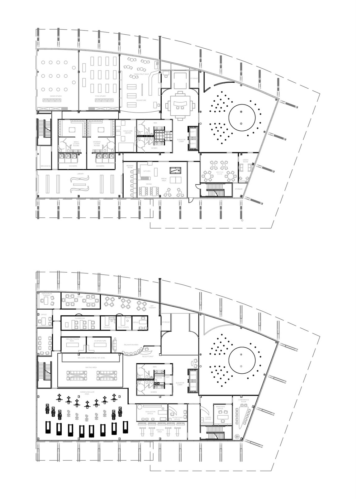 GreenSphere Wellness Center: Revised Reflected Ceiling Plan