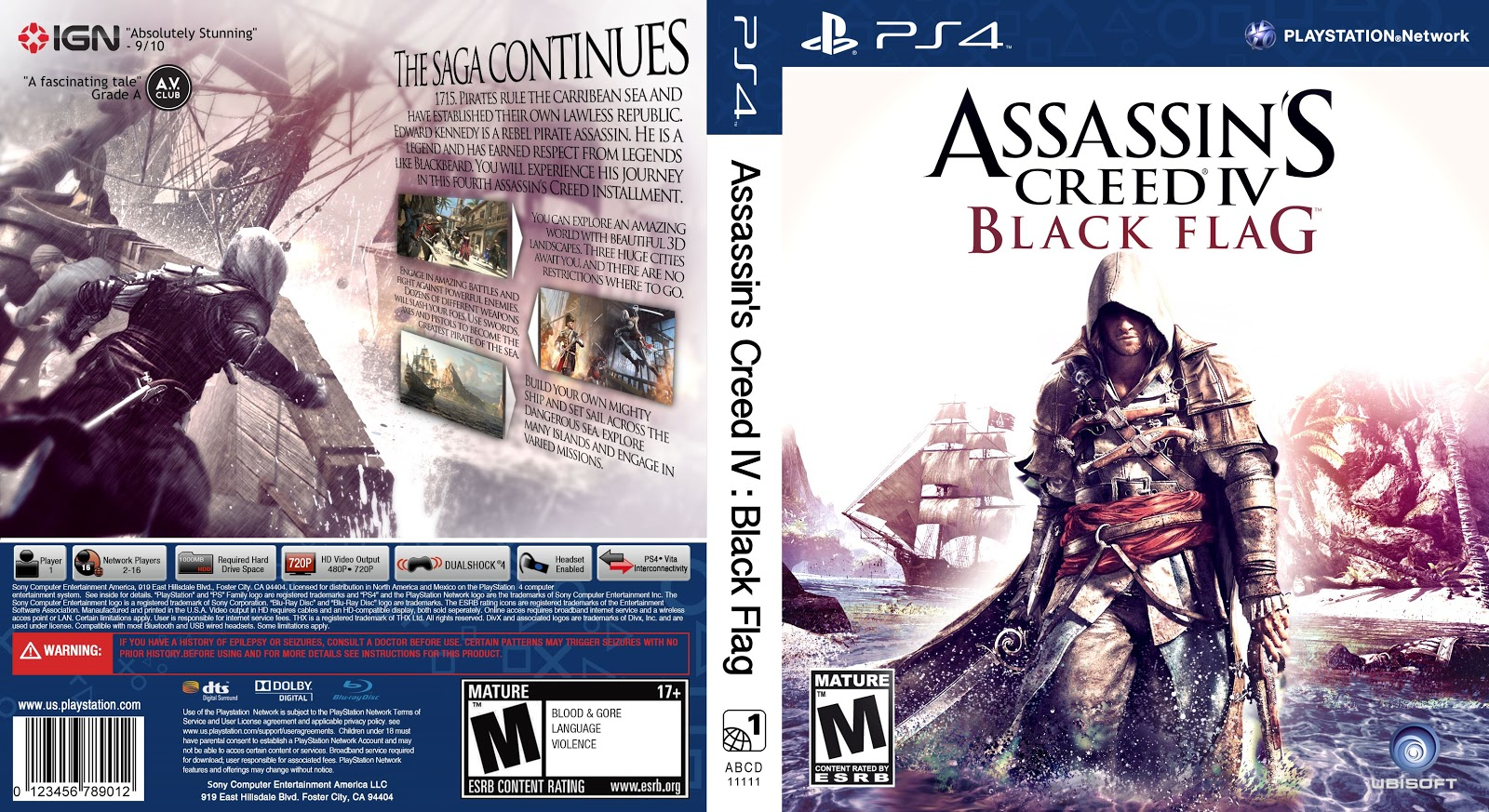 Capa Assassins Creed IV Black Flag PS4