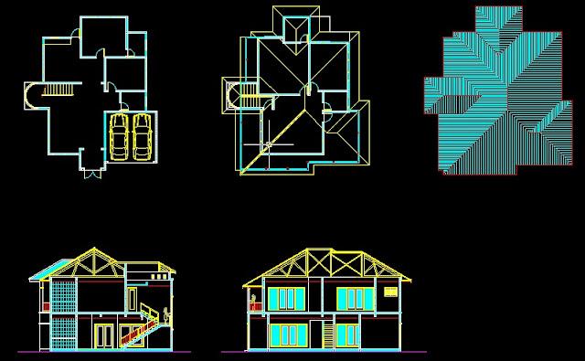 Gambar teknik rumah type 112 dwg