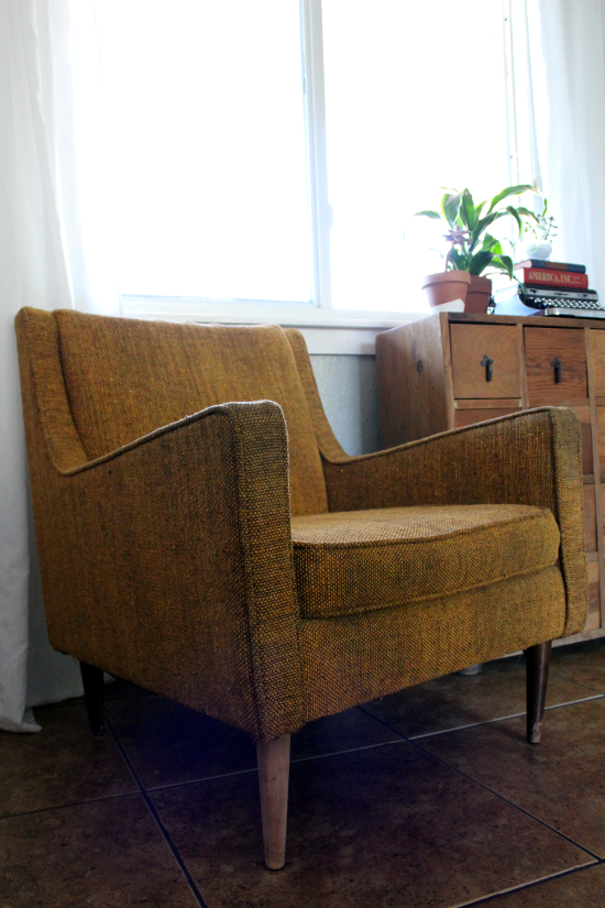 Mid Century Tweed Chair