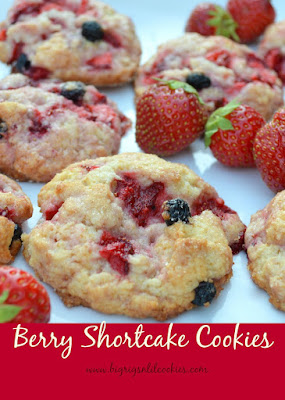 Berry Shortcake Cookies, shared by Big Rigs 'n lil' Cookies