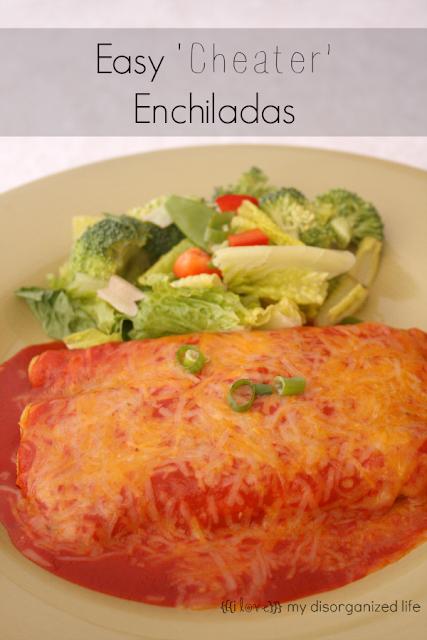 Easy 'Cheater' Enchiladas / {i love} my disorganized life