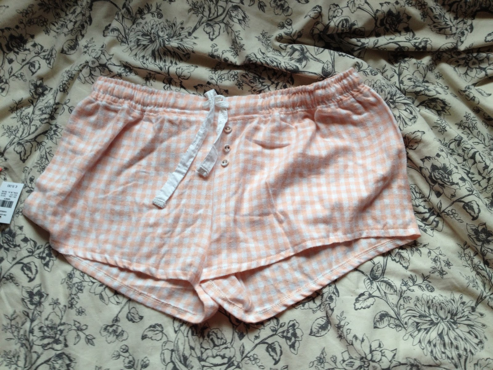 Primark Pink and White Flannel Short Pyjamas