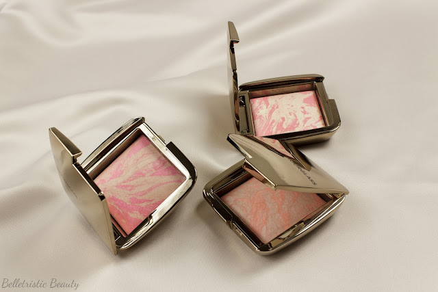 Hourglass Luminous Flush, Dim Infusion and Diffused Heat Ambient Lighting Blush in studio lighting