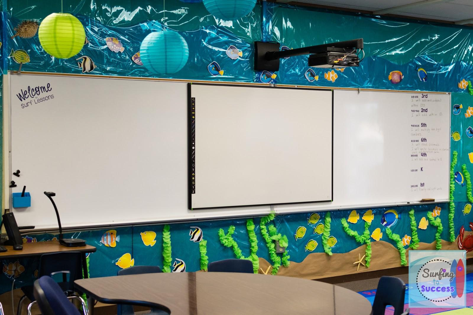 Classroom Decoration Ocean : My ocean theme classroom surfing to success