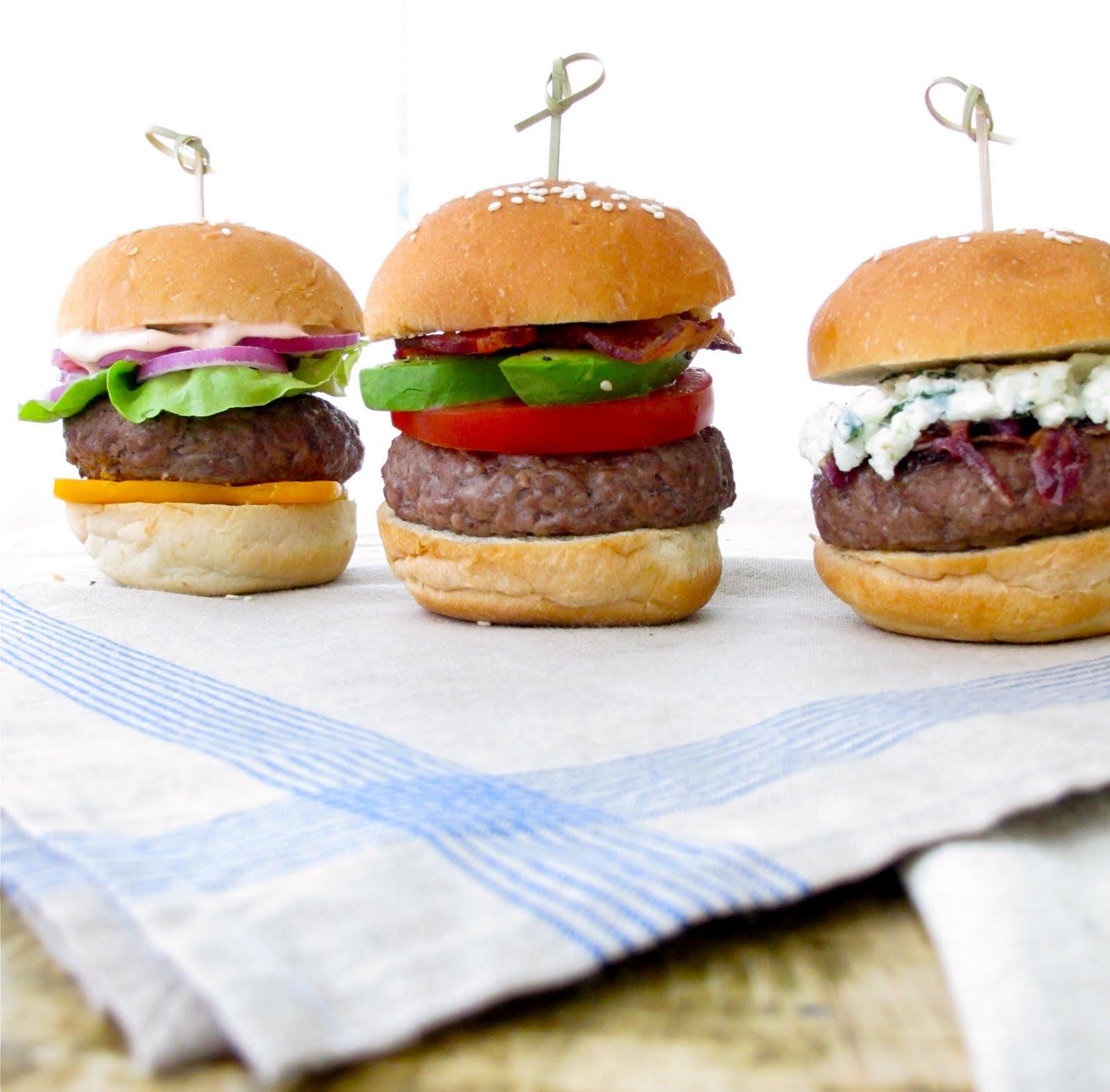 ... : Bacon Avocado & Tomato Burgers with Blue Cheese | Burgers & Sli...