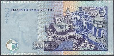 Mauritius 50 Rupees 2003 P# 50c