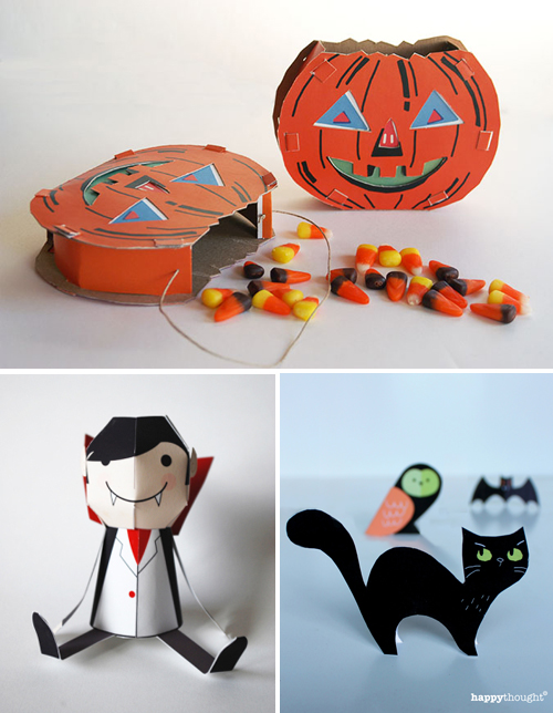 Last-minute Halloween paper crafts | How About Orange