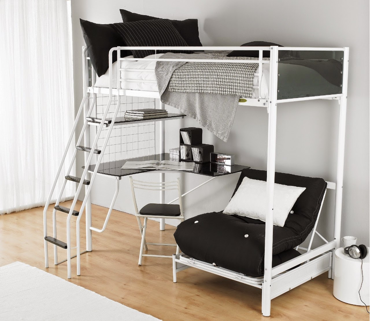adult bunk bed minimalist