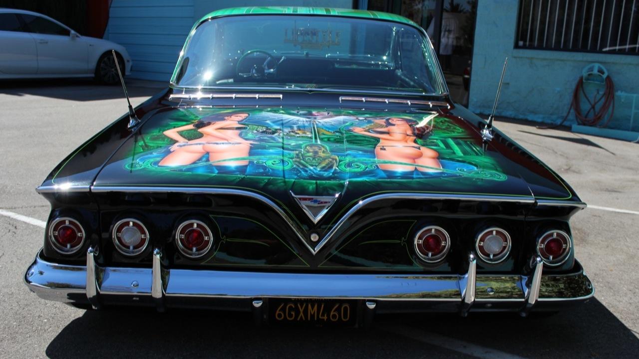 Mister Cartoon S 1961 Impala And Adam Carolla S Carcast Doing