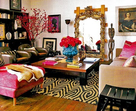 Flowers, Plants In Living Room