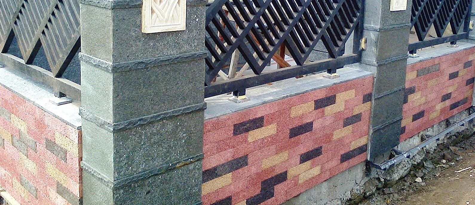 Desain Pagar Rumah Dari Batu Alam