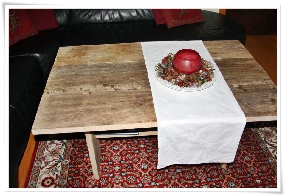 einer neuer tisch aus altem holz wolke sieben. Black Bedroom Furniture Sets. Home Design Ideas