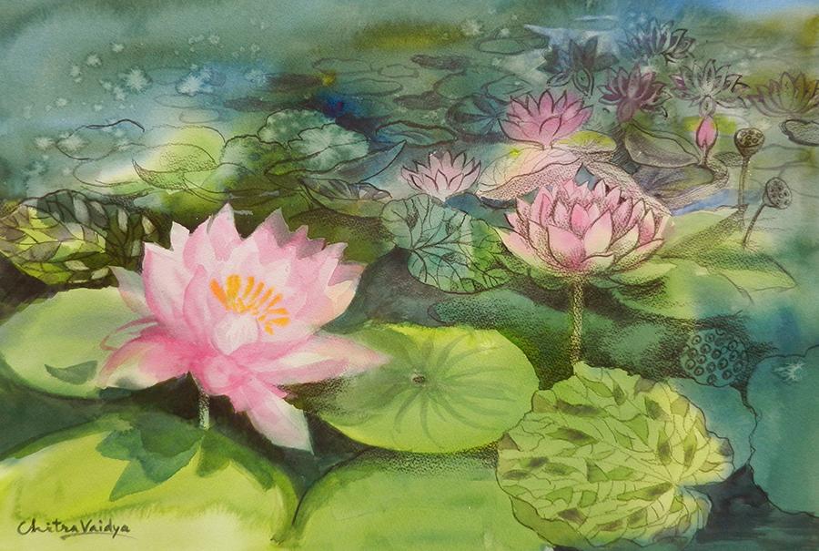 New painting pink lotus flowers my beautiful world of paintings new painting pink lotus flowers mightylinksfo