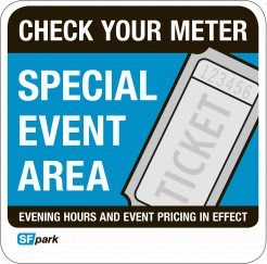 Special Event Area have Higher Meter Prices on Game Day