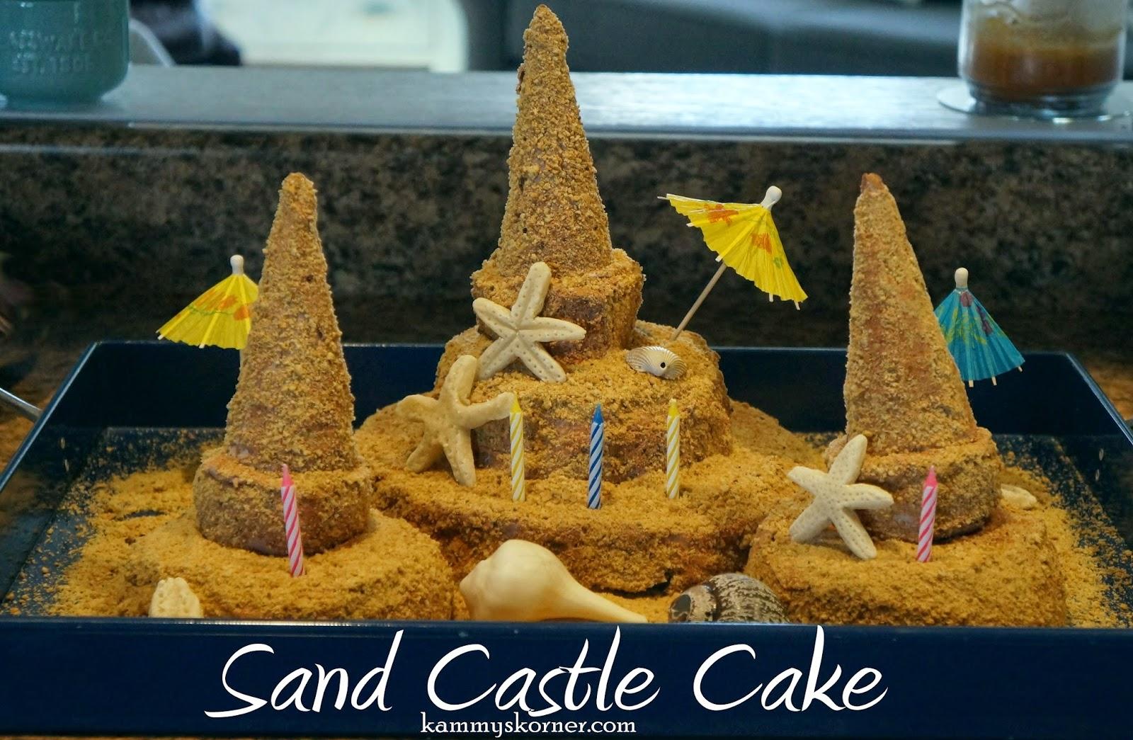 Kammys Korner Sand Castle Birthday Cake