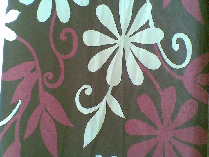 Beautiful flowers home wallpaper design - Wall flower design ...