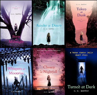 bookcovers from the SHADOWFALLS series by C.C. Hunter