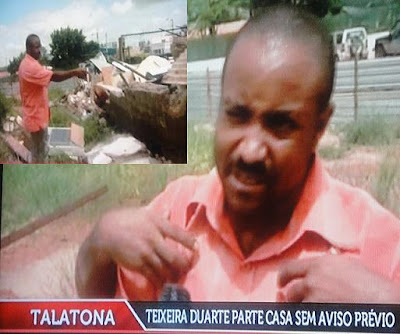 Casa de família angolana demolida pela empresa Teixeira Duarte