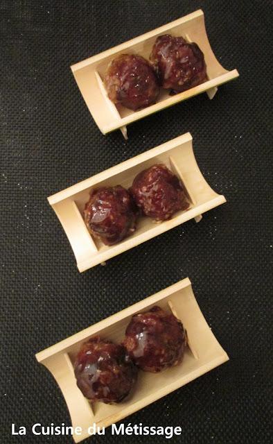 boulettes de viande à l'asiatique