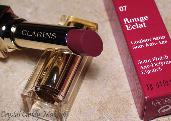 Rouge à lèvres Rouge Éclat 07 Red Wine de Clarins - Rouge Eclat lipstick review