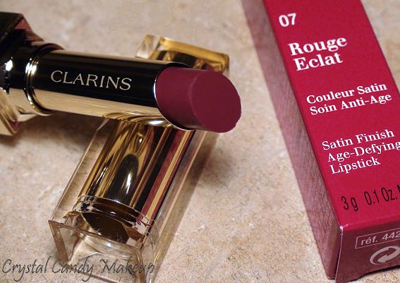 Rouge à lèvres Rouge Éclat 07 Red Wine de Clarins - Rouge Eclat lipstick review