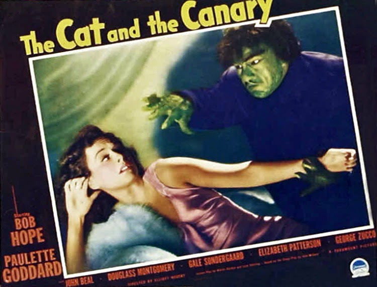 A Vintage Nerd, Classic Film Blog, Classic Haunted House Movies, Vintage Blog, The Cat and the Canary