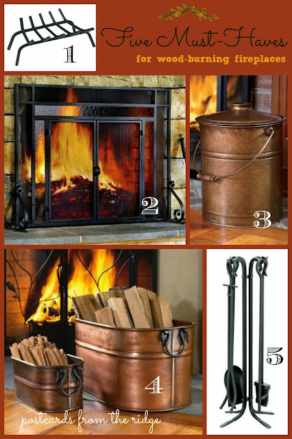 5 Essentials for your fireplace.  I love these!