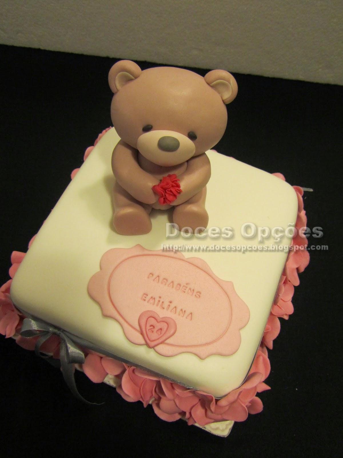 bolo aniversário ursinho
