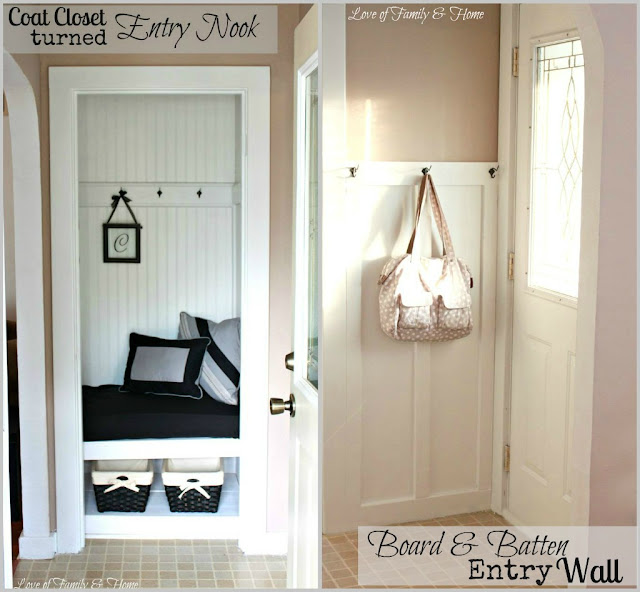 Coat Closet Foyer : My sister s new house a coat closet turned entry nook