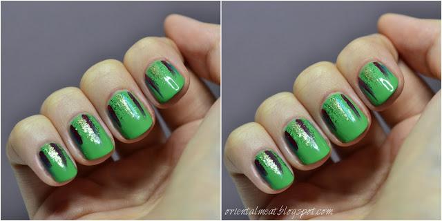 Frędzle na zielonym