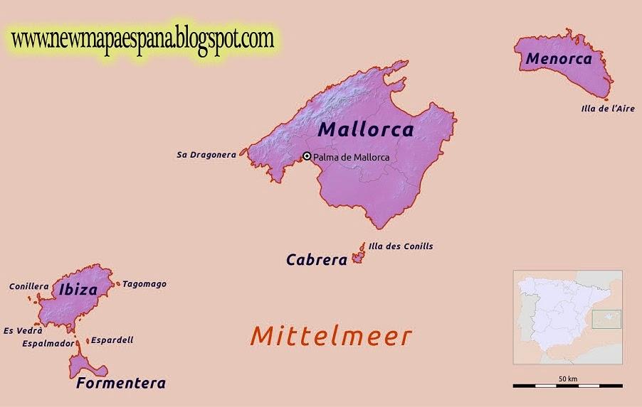 Mapa Politico Islas Baleares Barrakuda Info