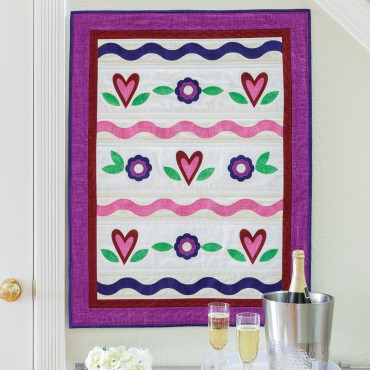 AccuQuilt GO! Sweetheart Wall Hanging free pattern