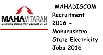 MAHADISCOM Recruitment 2016 - Maharashtra State Electricity Jobs 2016