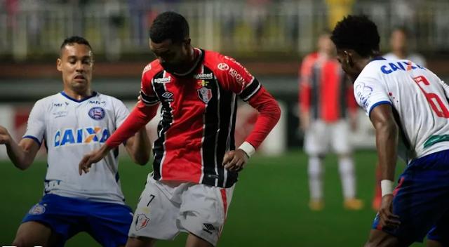Gols de Bahia e Joinville