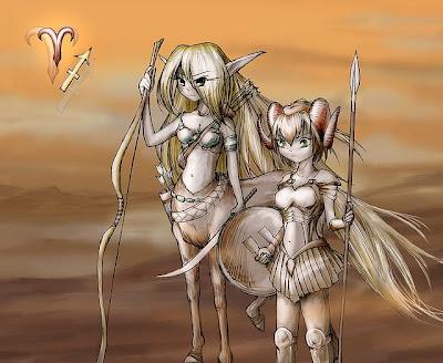 Aries y Sagitario Anime