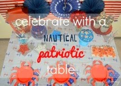Tips for a nautical patriotic table