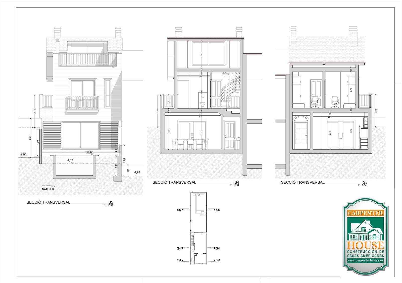 Carpenter house pr ximamente nueva construcci n vivienda - Casas americanas planos ...