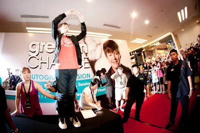 Greyson Chance in Malaysia earlier this year during promo tour
