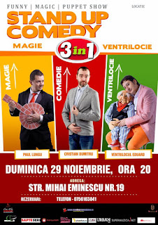 Stand-Up Comedy Magie si Verntriocie Duminica 29 Noiembrie Braila