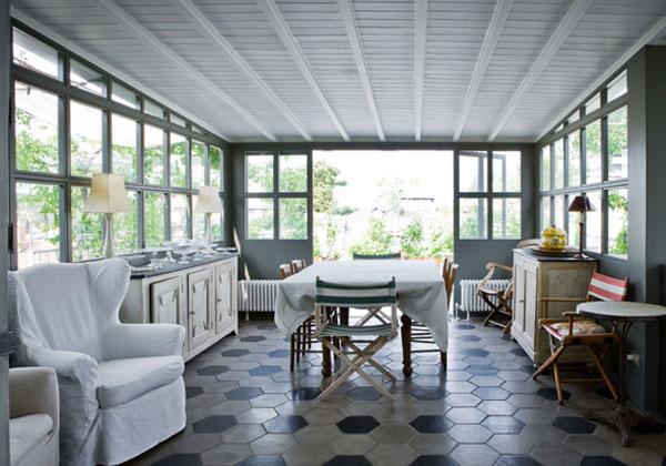 Creamaricrea romantica ma non troppo mansarda milanese - Cucina in veranda ...
