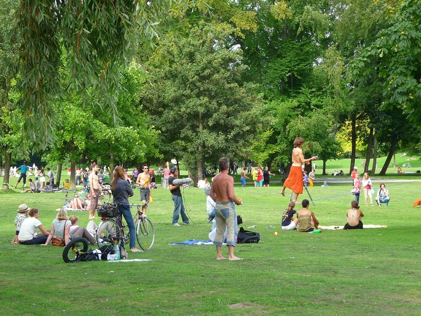 Nude in the park retro picture 52