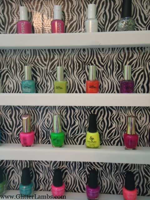 Zebra Nail Polish Rack 4