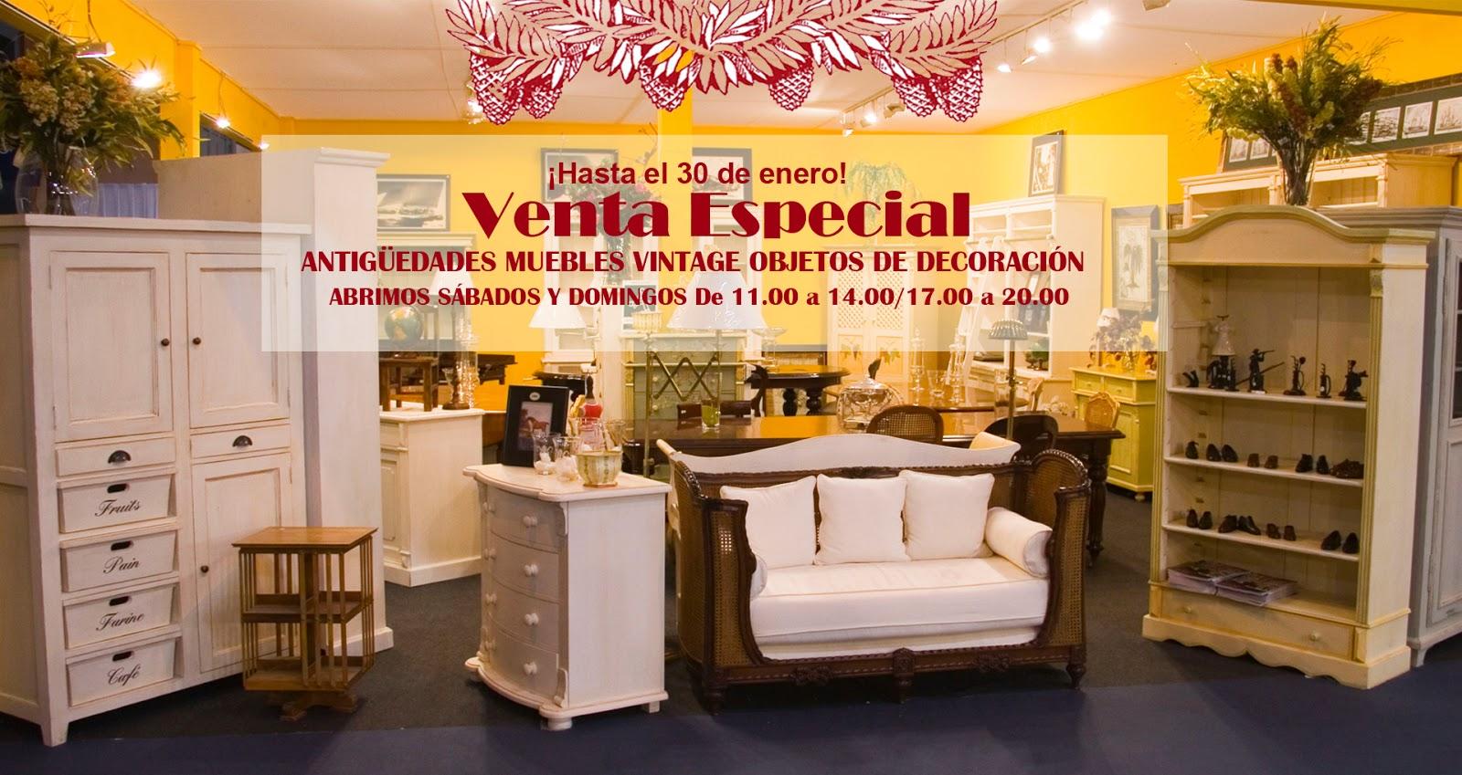 ¡Tendremos nuestra Venta Especial de Navidad hasta el 30 de Enero! Chimeneas de mármol antiguas mesas de comedor de caoba maciza, sillas isabelinas, objetos de decoración espectaculares y nuestros ya conocidos muebles vintage.