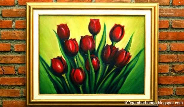 Lukisan Bunga Tulip