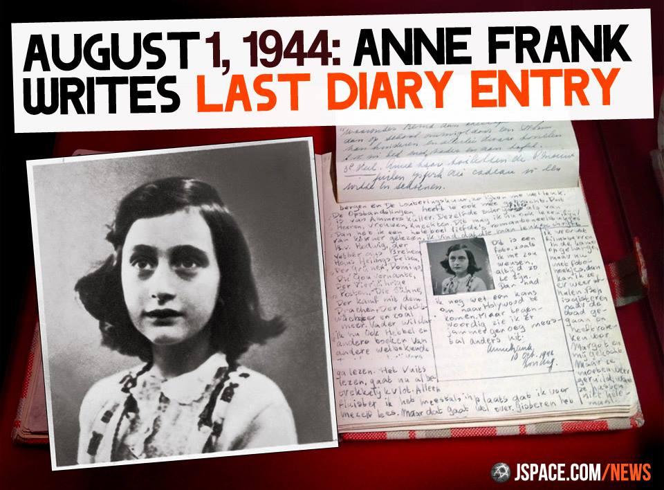 Eterna Sefarad A última Frase Do Diário De Anne Frank
