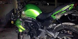 Motor kawasaki ninja ER-6n 650cc milik Ustad Uje