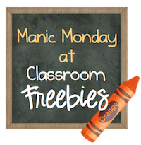 Classroom Freebies Manic Monday